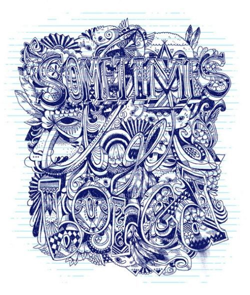 Sometimes I get bored #hand drawn #typography #illustration
