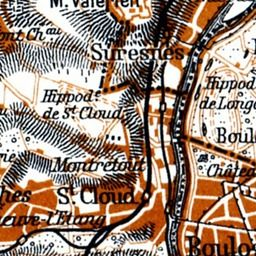 Map of Paris dated 1937 by Der Neue Brockhaus, and printed in Germany