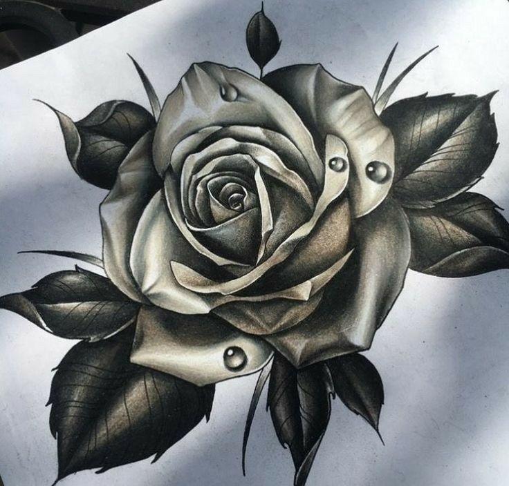 Роза картинка тату