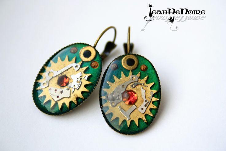 steampunk earrings by JeanneNoire Handmade Crafts