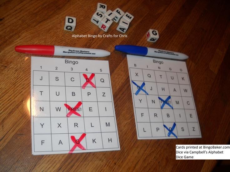 Bingo de l'alphabet