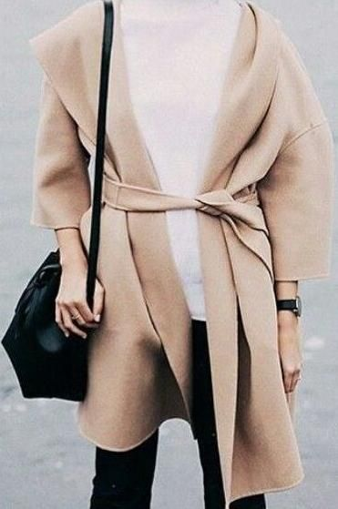 nude waterfall coat.