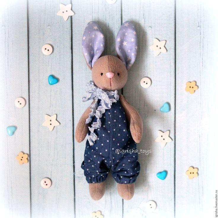 Купить Зайчонок - зайчонок, зайчик, малыш, подарок, на крещение, на рождение, заяц, ручная работа