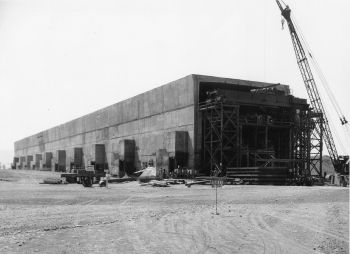 This photo shows the construction of the T Plant -- the world's first large-scale plutonium separation facility -- in Hanford, Washington. The T Plant is one of the facilities the Department plans to open as part of the Manhattan Project National Park. | Photo courtesy of the Energy Department.