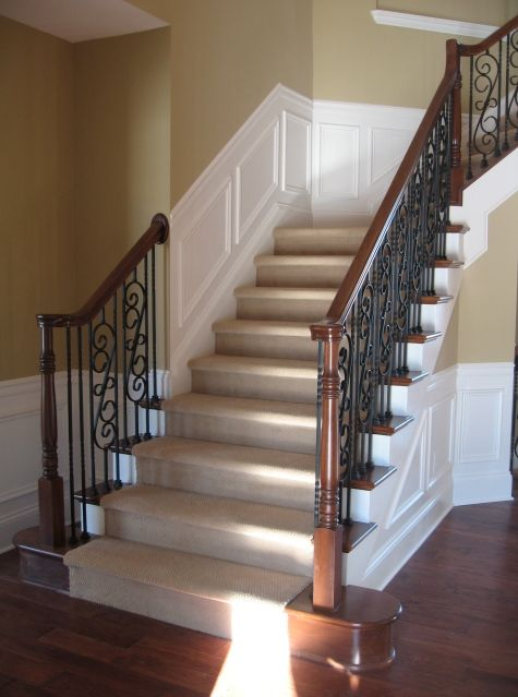Foyer Stairs Zimbabwe : Solid and cool hardwood stairs design ideas with luxury