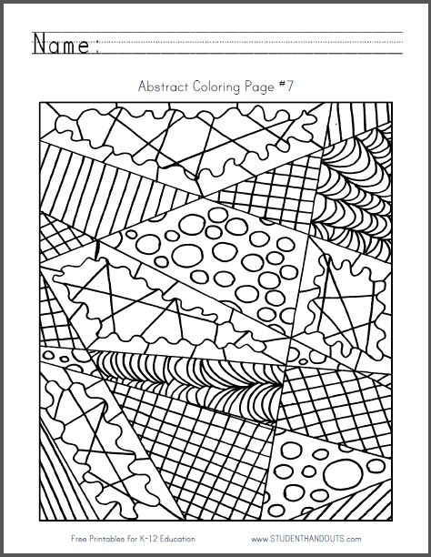 Abstract Coloring Pages Free Pdf : Best images about coloring pages on pinterest