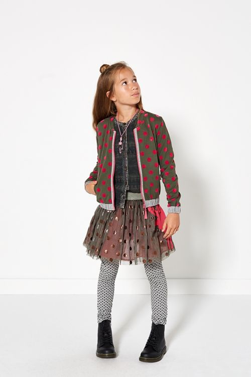 Glamping | Fashion | Cardigan | Dots | Skirt | Pink | Green | Lookbook