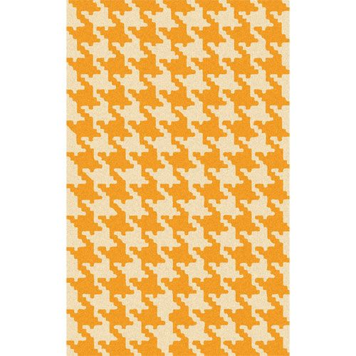 Abigail Houndstooth Rug in Orange from PoshTots