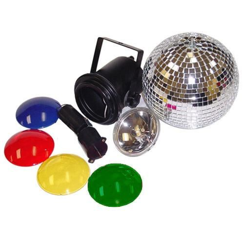 Disco Party Lighting DJ Mirror Ball Pinspot 4515 bulb color caps Kit