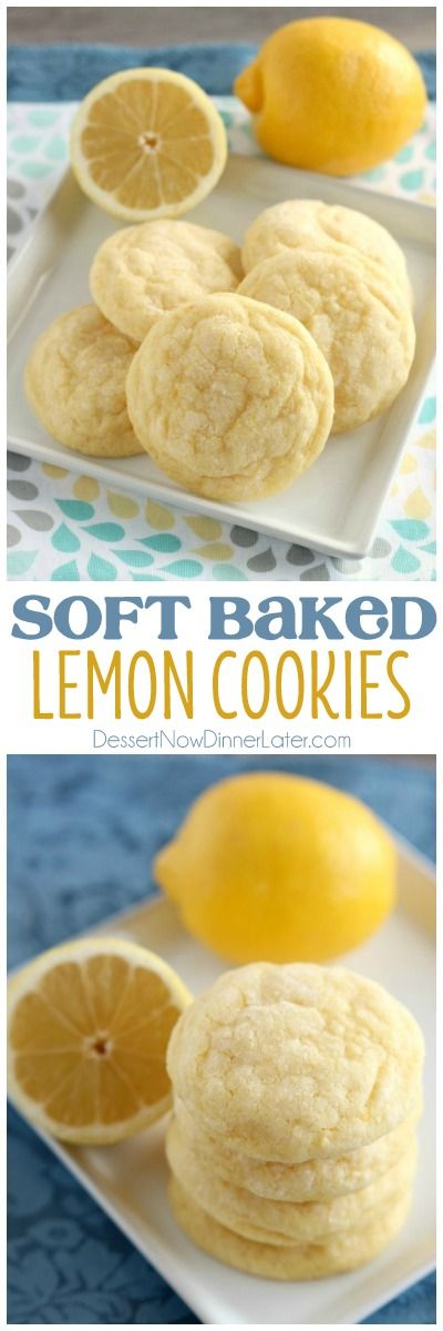 Soft Baked Lemon Cookies - These lemon cookies are soft baked and have plenty of lemon zest, lemon juice, and lemon extract throughout for a delicious lemon treat! on MyRecipeMagic.com