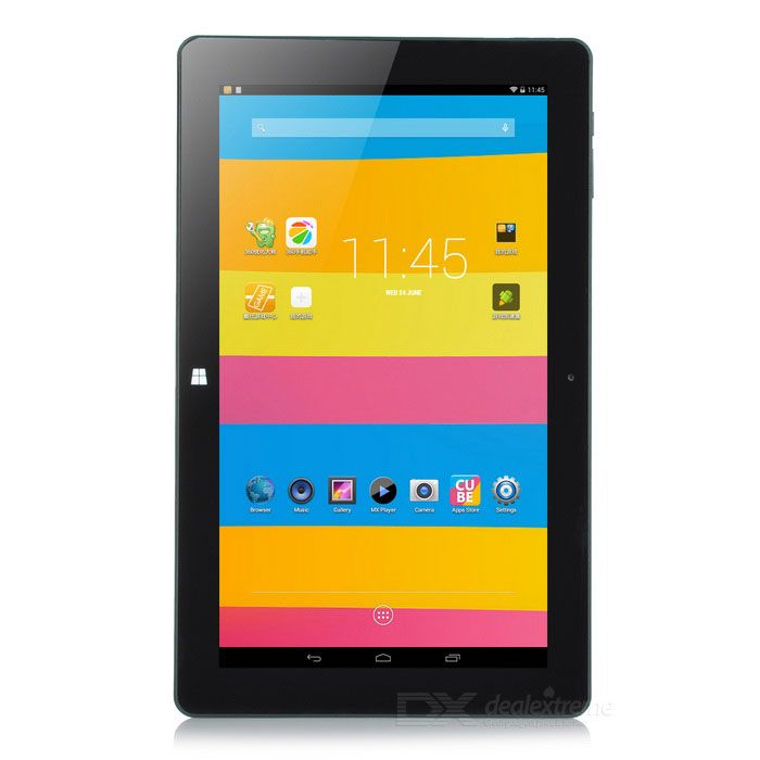 """Cube i10 Dual Boot Windows 10.1 + Android 4.4.4 Quad-Core Tablet PC w/ 10.6"""" IPS, 32GB ROM - Black"""