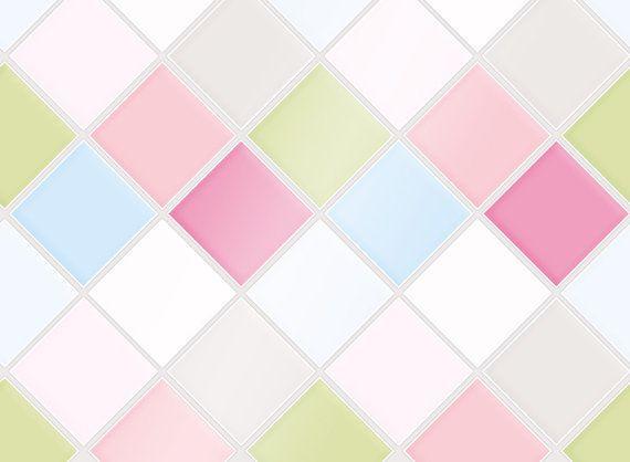 "Kitchen Tile Decal Tile Stickers Set ""Little Flower"" for bathroom or kitchen"