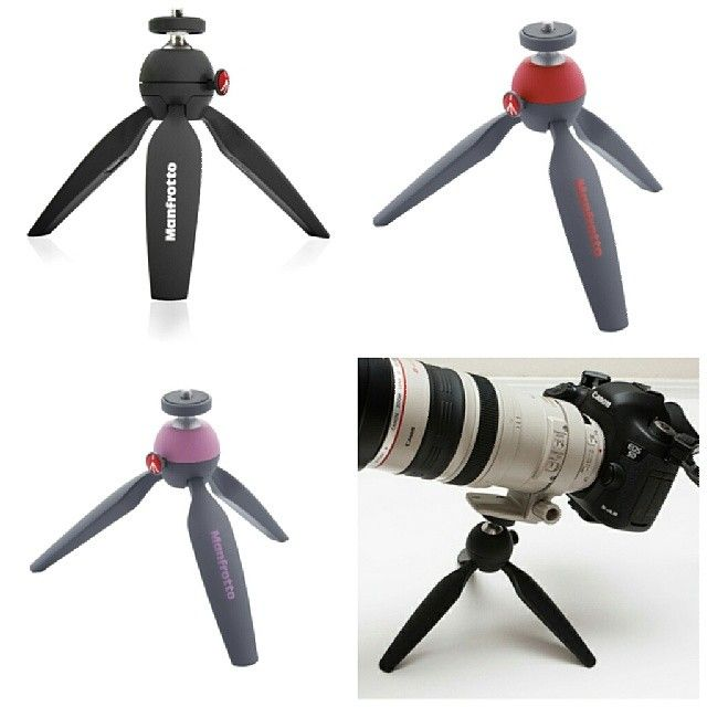 Manfrotto PIXI mini tripod now come in 3 colors : black , red and pink !!