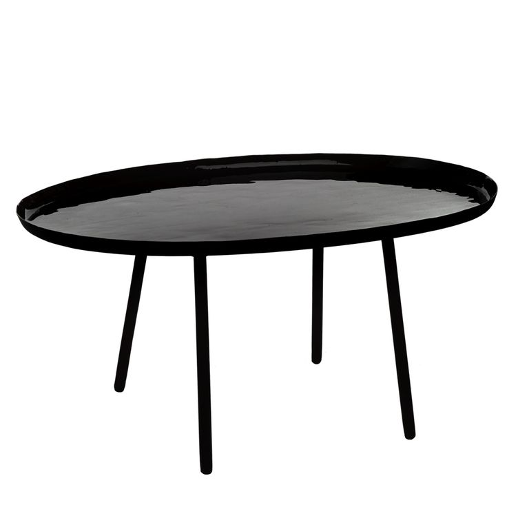 Pols Potten Salontafel Ovaal 52 cm - Zwart