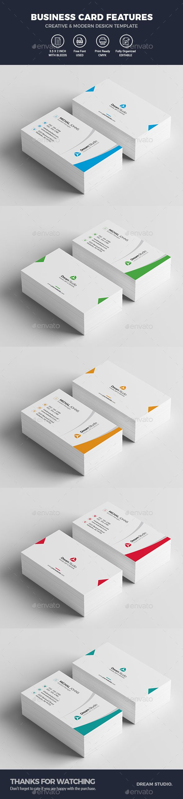#Business #Cards - Business Cards Print Templates Download here: https://graphicriver.net/item/business-cards/20191250?ref=alena994