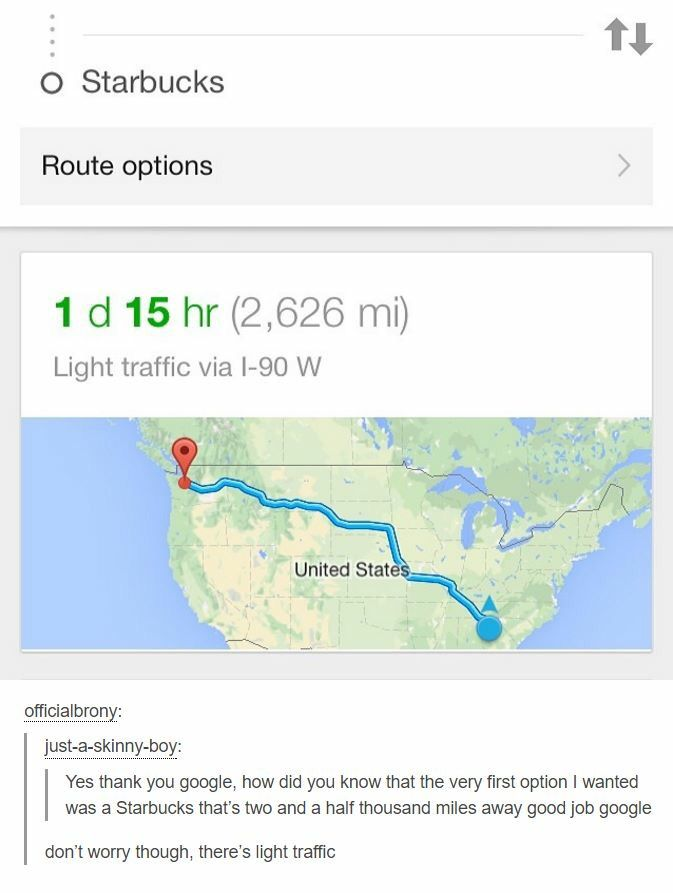 I don't understand how it takes 24 hours to get from Maine to Missouri, but only 15 more hours to go all the way across the country.