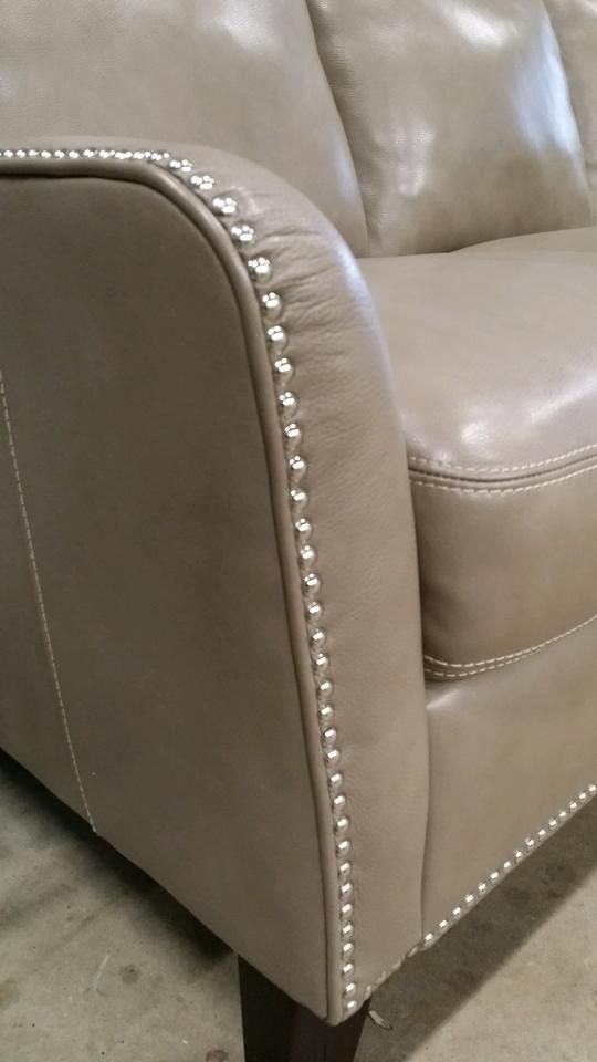 Sometimes The Smallest Details Can Make The Biggest Impact! The Small  Nailhead Trim On This Smooth Leather Sofa Will Instantly Accessorize Your  Space!