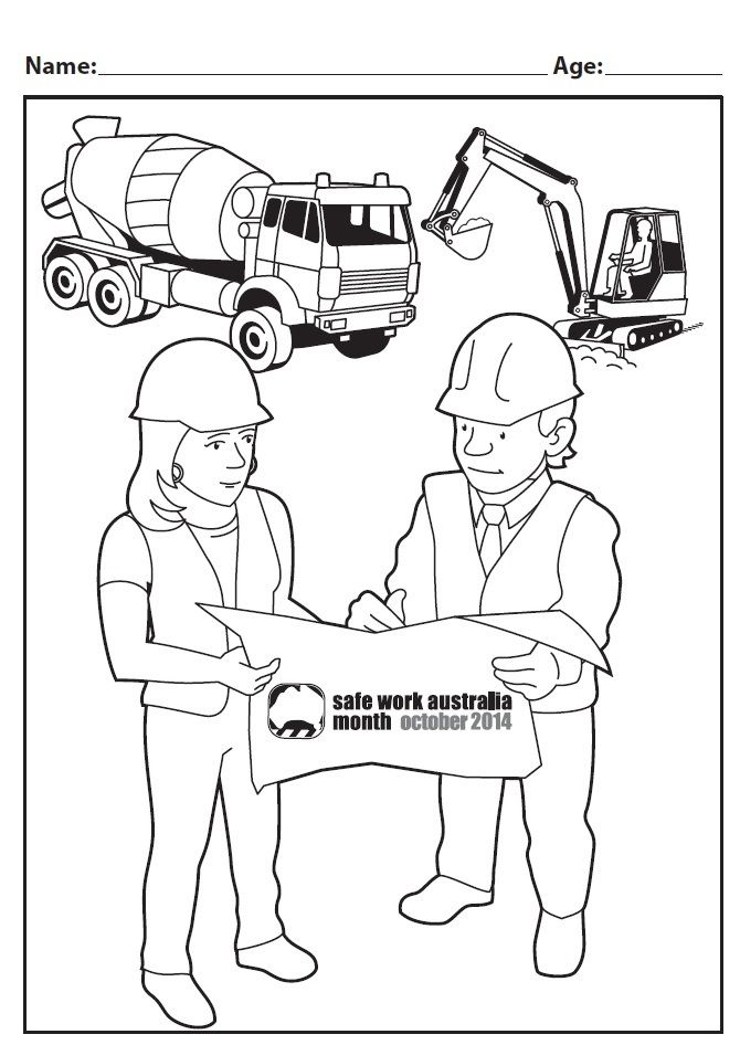 Workplace Safety Colouring In Safe Work Month Australia