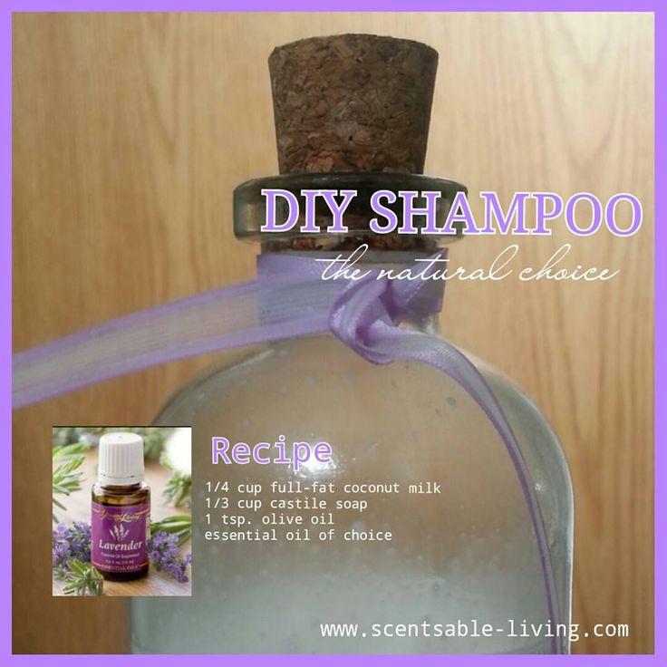 Young Living Essential Oils: Shampoo   DIY non toxic hair