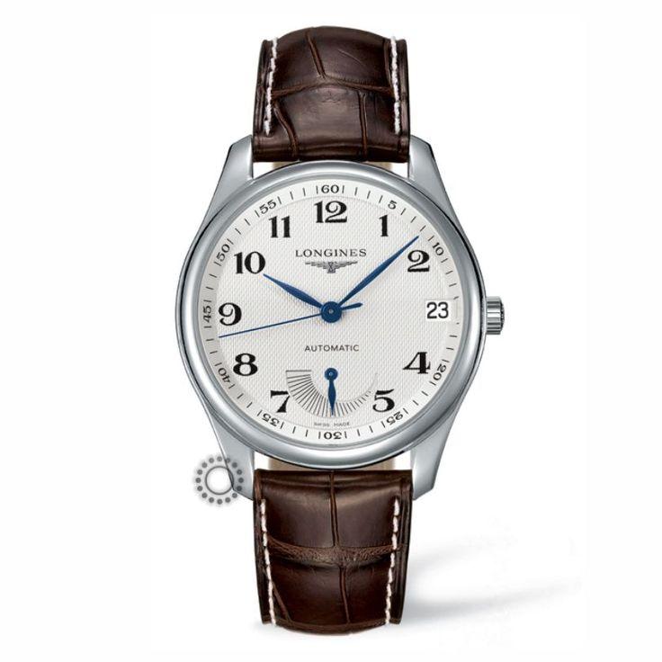 L2.666.4.78.5 Ανδρικό αυτόματο ρολόι LONGINES Master Collection με ένδειξη εφεδρικής ισχύος (Power Reserve),ημερομηνία,καφέ λουρί & ασημί καντράν  #master #longines #ρολόγια