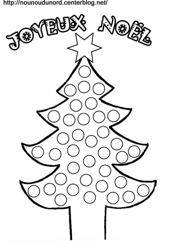 Coloriage A Gommettes Le Sapin De Noel Navidad Pinterest