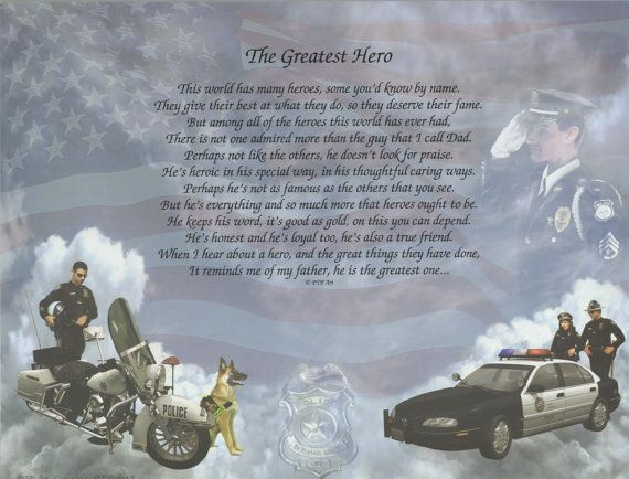 The Greatest Hero Poem Police Motorcycle By
