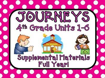 Journeys 4th Grade - This bundle contains a variety of activities for each lesson in Units 1 through 6 from the fourth grade Journeys book by Houghton Mifflin Harcourt. These activities are designed to teach, re-teach, practice, or assess the lessons taught in these units. $