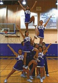 Easy cheer pyramid