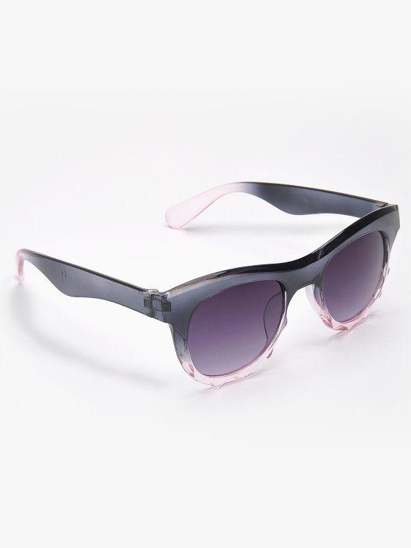 okulary zerówki damskie  czarne - SOK0176 TOP SECRET