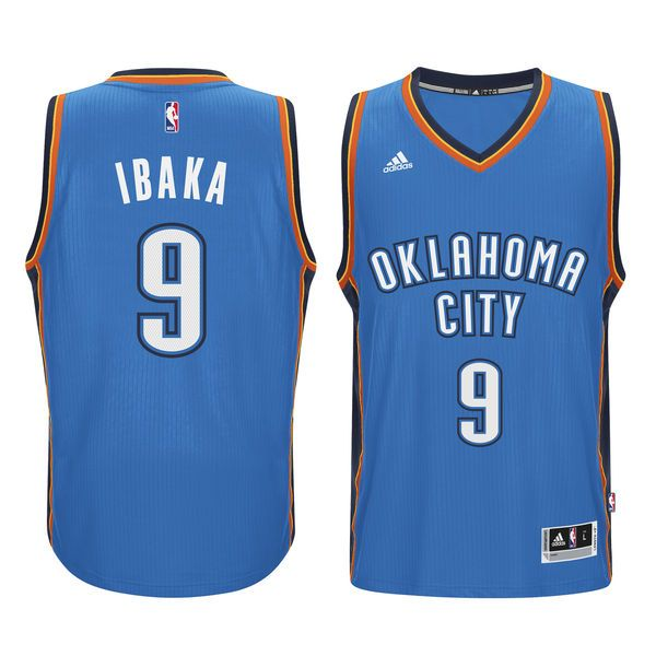 Serge Ibaka Oklahoma City Thunder adidas Swingman climacool Jersey - Blue - $65.99