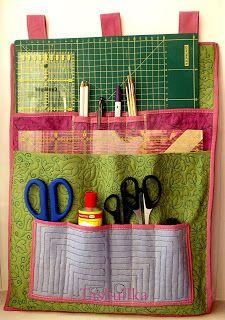 лоскутная мозаика: Как сшить органайзер для рукоделия