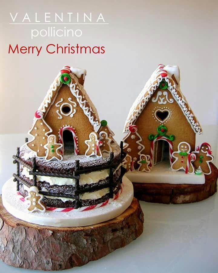 Rustic Christmas cake