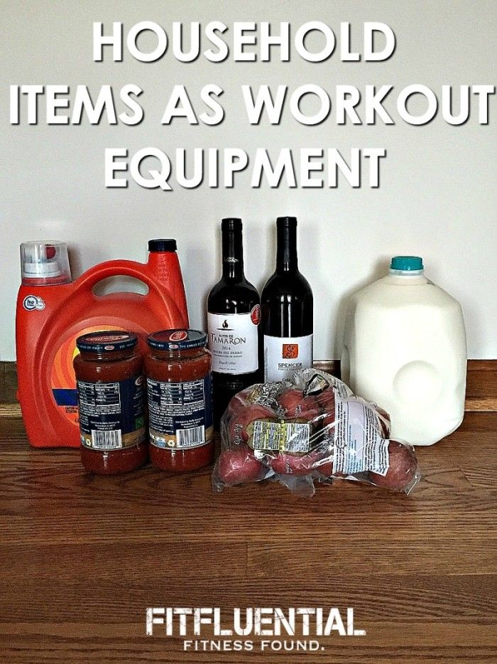 Using Household Items as Workout Equipment