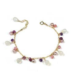 White Chalcdony Mix Bracelet