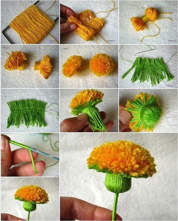 DIY Dandelion Pom Pom