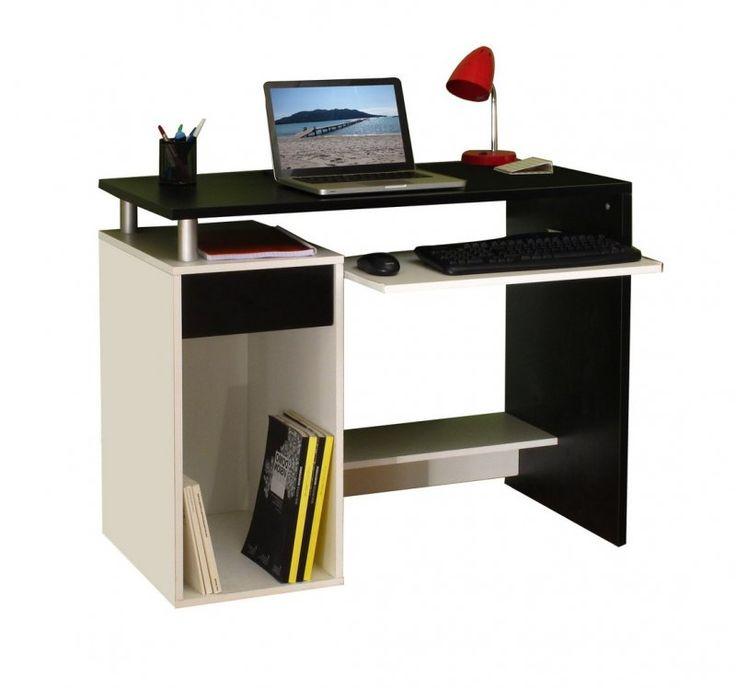 1000 ideas about bureau informatique on pinterest bureau ikea meuble de b - Bureau informatique noir ...