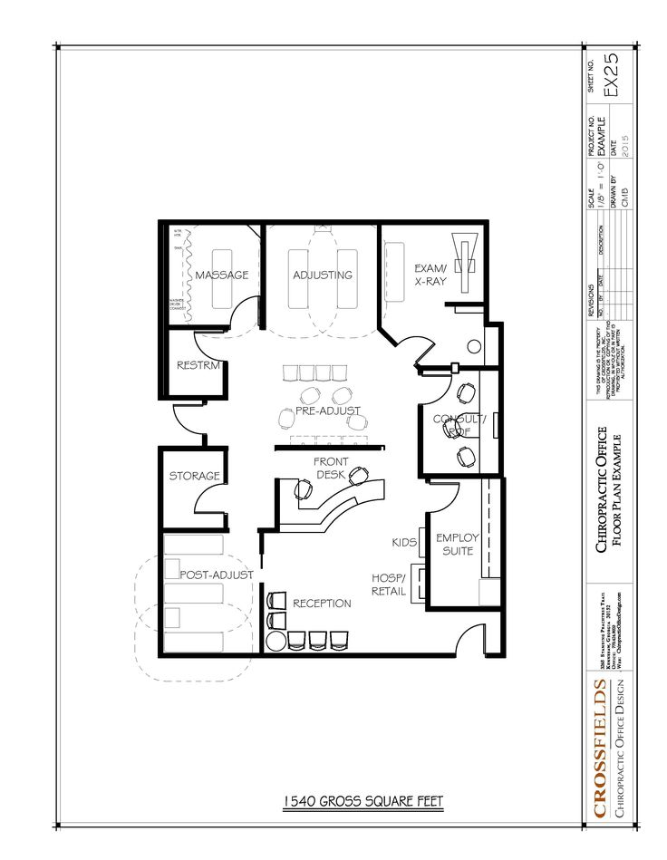 Chiropractic Office Floor Plans More