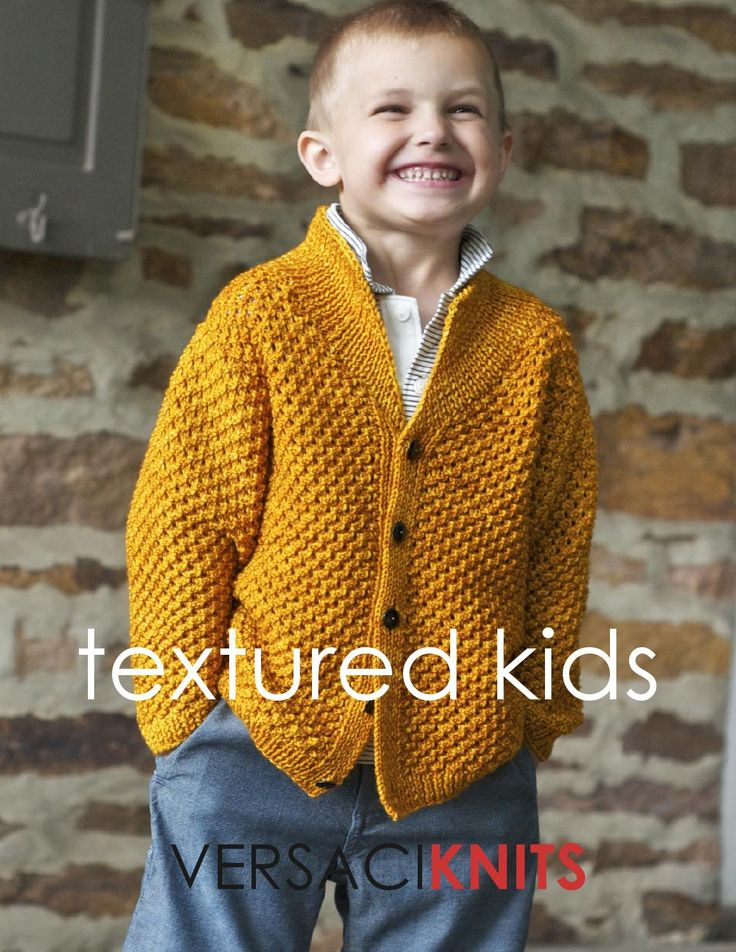 VERSACIKNITS textured kids lookbook  5 great hand-knit sweaters for kids of all ages