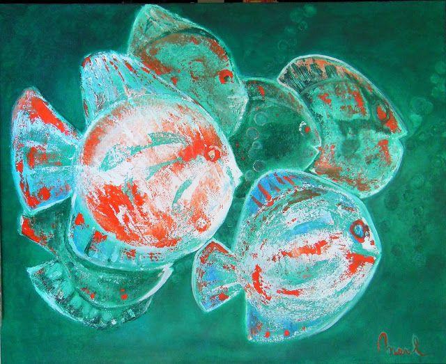 Kom binnen in de Kunstgalerie van Marl.Decoratieve schilderijen: 17-233 Wanda  Privé Collectie