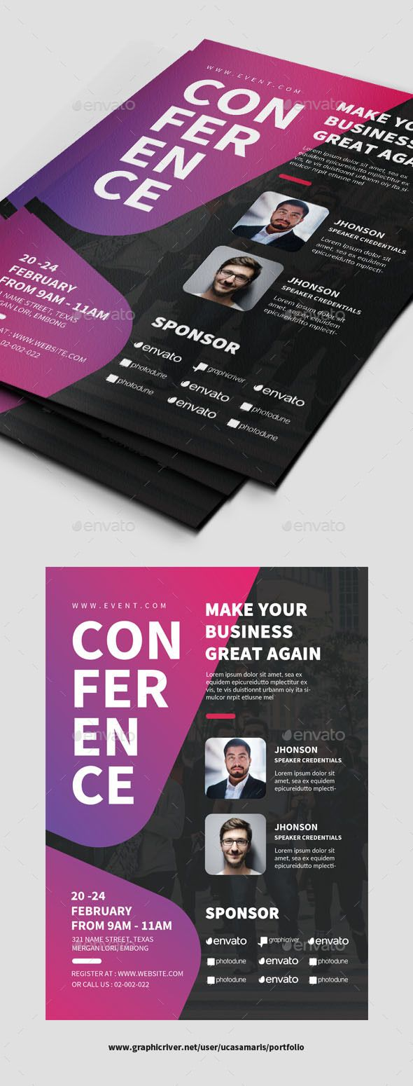 Conference Flyer. Print-templates Flyers Events. To help discover this advert, annual program, business, conference, Conference Flyer, congress, convention, convention center, corporate event, creative, design conference, design expo, entrepreneur, event, explaining, flyer, leaflet, marketing, meeting, Meetup, participant, poster, seminar, speaker, speech, strategy, summit, talk, web design, and workshop.