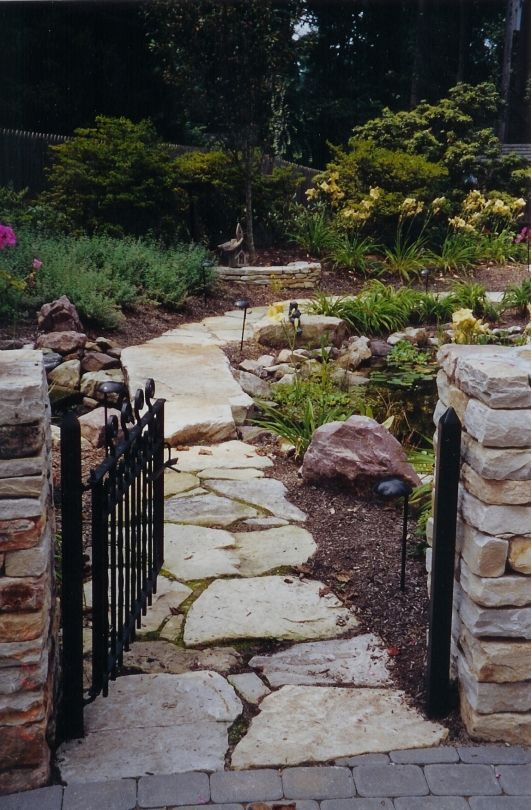 Beautiful Natural Stone Walkway Landscapes Pinterest