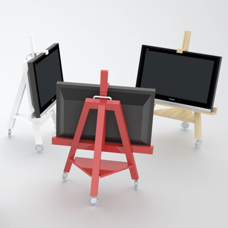 Modern Mobile TV Stand - Shelterness