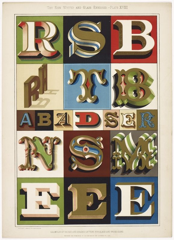 33 best Sign Writer and Glass Embosser (1898) images on Pinterest - best of example letter semi block style