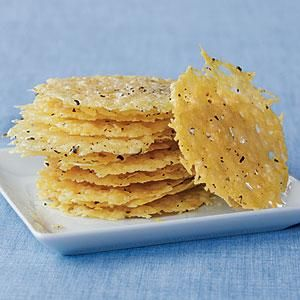 These crisps are terrific to float on top of Creamy Tomato Soup or Creamy Broccoli Soup for an extra kick of flavor.