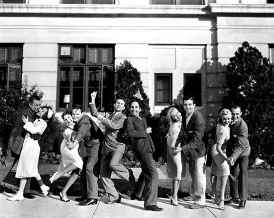 Cast of College Swing (1938)  (Don't see her here but I loved Martha Rey's singing.)