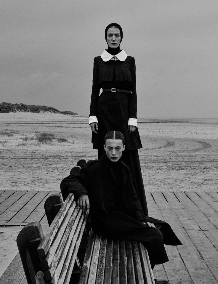 Vogue Ukraine November 2015 Black Issue Models: Lou Schoof, Nils Schoof Photographer: Elizaveta Porodina Fashion Editor: Julie Pelipas Beauty: Heiko Palach