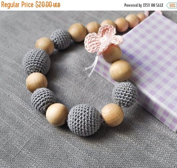 BLACK FRIDAY SALE Total Gray Nursing Necklace by by Simplyacircle