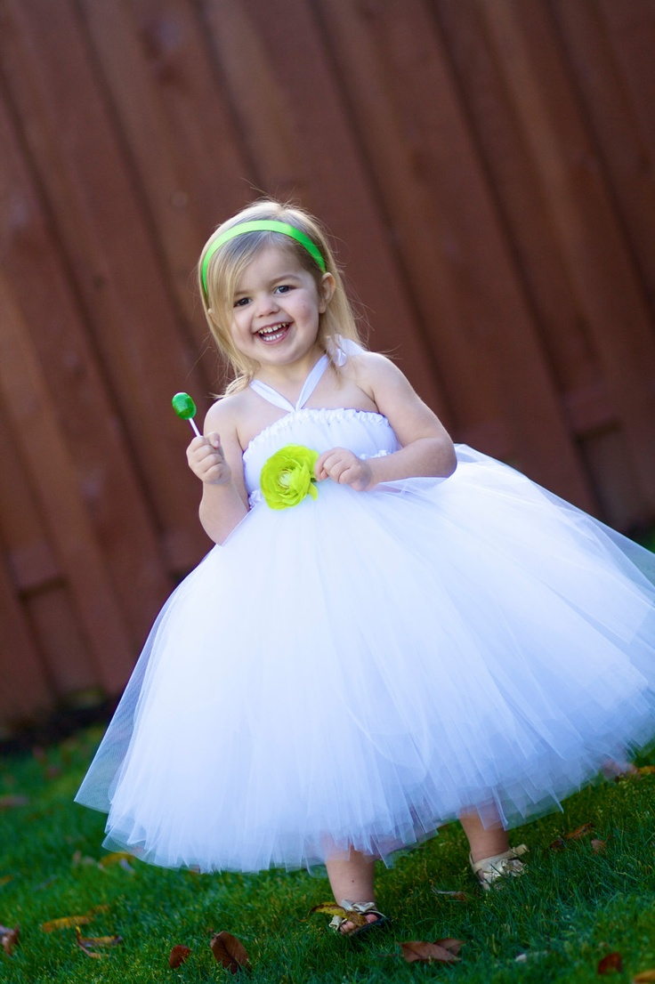 Fairy White Flower Girl Tutu Dress 24m thru by littledreamersinc