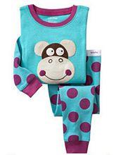 Real Christmas Blue Pajamas Clothes Sale 2016 Cartoon Kids Pajama Set Children Sleepwear Nightwear Family Baby Pyjamas(China (Mainland))