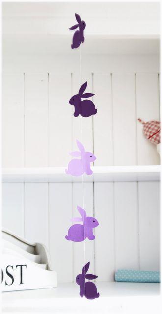 Printable - Bunny garland by Titatoni